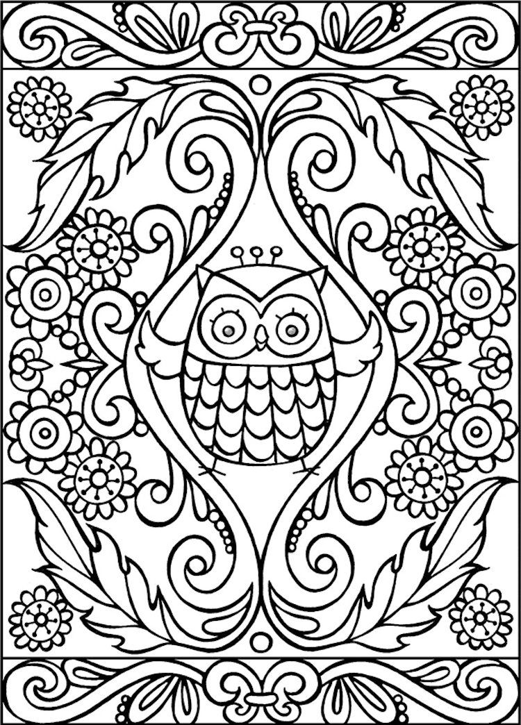 dover owl coloring page - Owl Coloring Pages For Adults