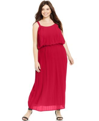 American Rag Plus Size Pleated Blouson Maxi Dress My Style
