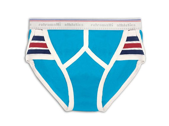 6977d474f7 Retro stripes tanga briefs cerulean blue new jockey 70s 80s y fronts gay  underwear vintage underwear