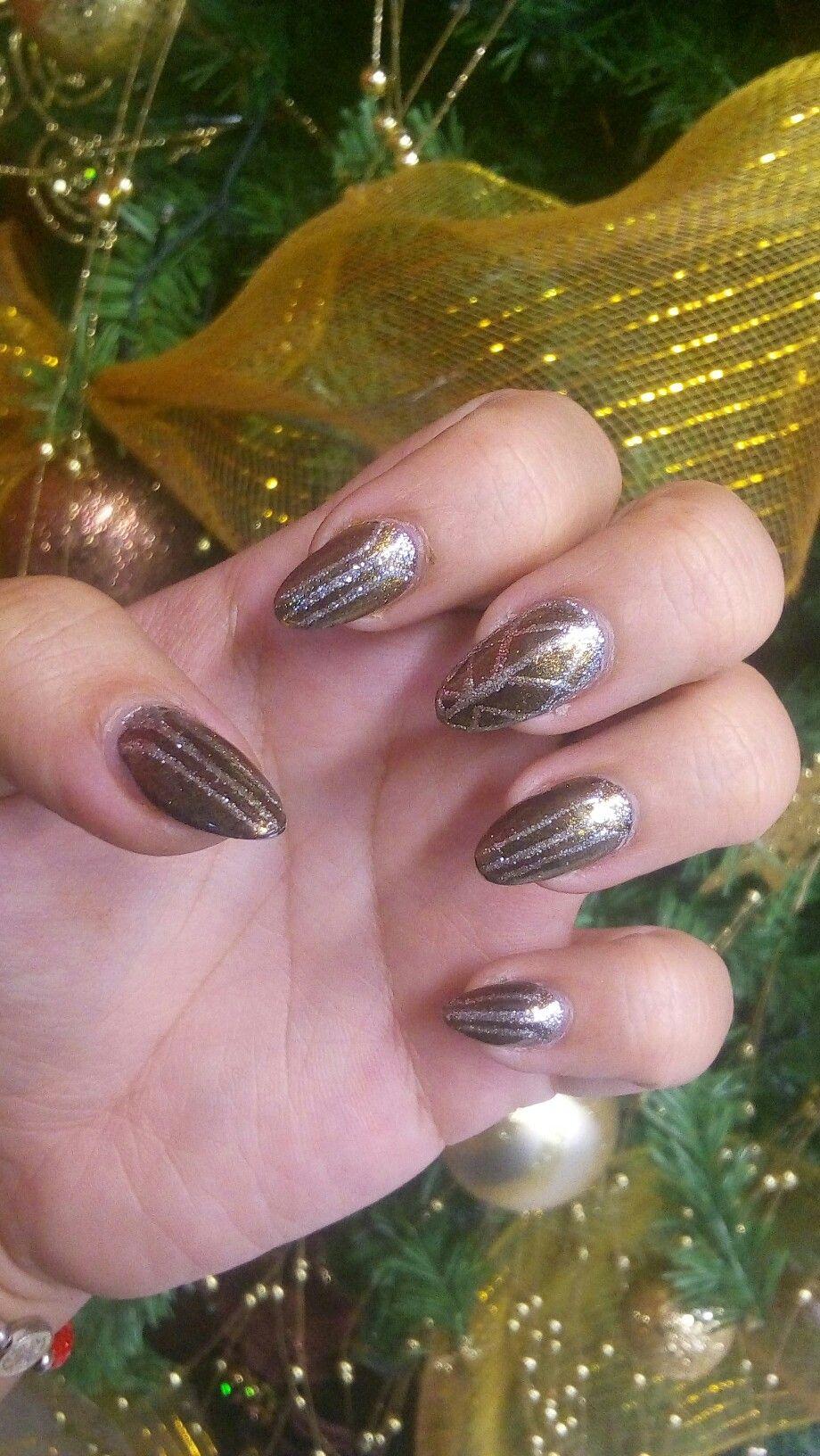 #nails #diseño #shellac #gelish #punta #almendra