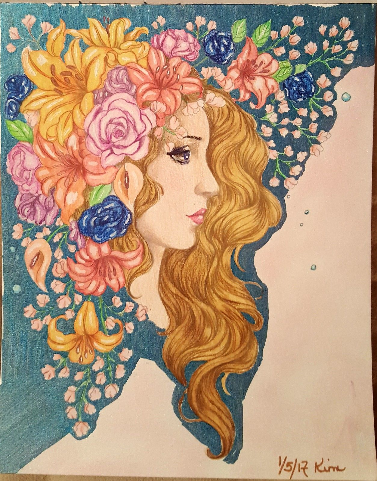 Prima Princesses Coloring Book Derwent Inktense Pencils Used With Water Brush This Is Very Heavy Toothy Pap Princess Coloring Coloring Books Coloring Pages