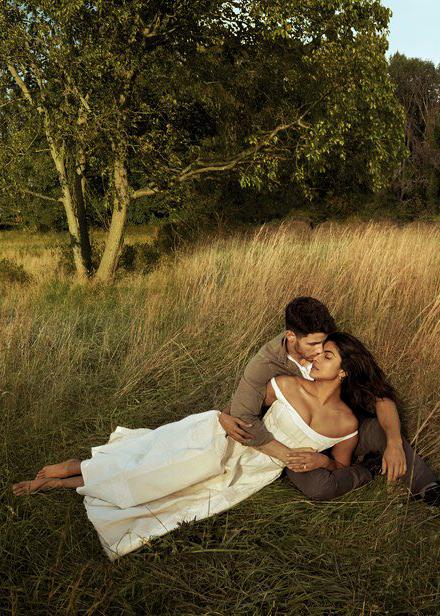 Priyanka Chopra and Nick Jonas for Vogue US, January 2019.