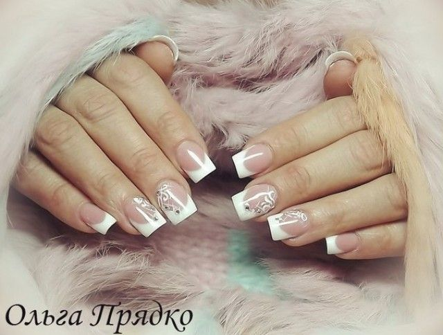 olga nail art dezentes nageldesign 2014 french nails. Black Bedroom Furniture Sets. Home Design Ideas