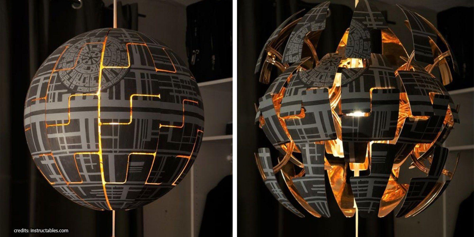 Wie Man Eine Ikea Lampe Cool Bemalthange Den Todesstern In Dein Zimmereine Geniale Idee Fur Alle Star Wars Fans Ikea Lamp Ikea Ps 2014 Star Lamp