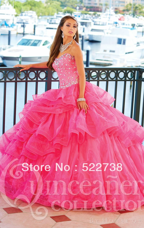 Hot Pink Sweet 16 Dresses  ... hot-pink-quinceanera-Dresses-ball ...