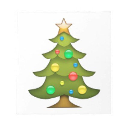 Christmas Tree Emoji Notepad Xmas Christmaseve Christmas Eve Christmas Merry Xmas Family Holy Kids Gif Tree Emoji Christmas Pillowcases Christmas