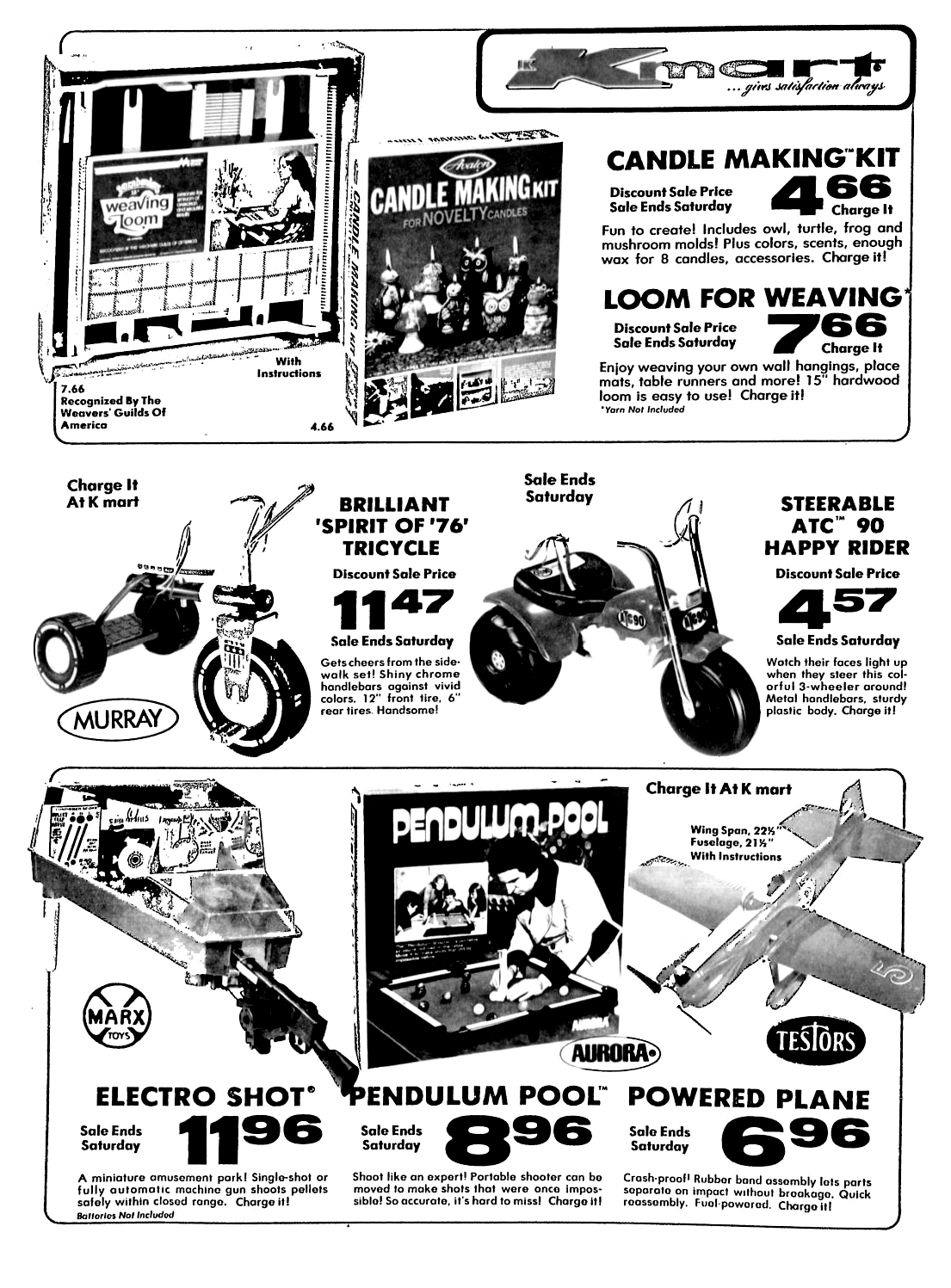 Candle Making Kit Kmart Kmart Toys Testors Plane Electro Shot Atc 90 November 1973