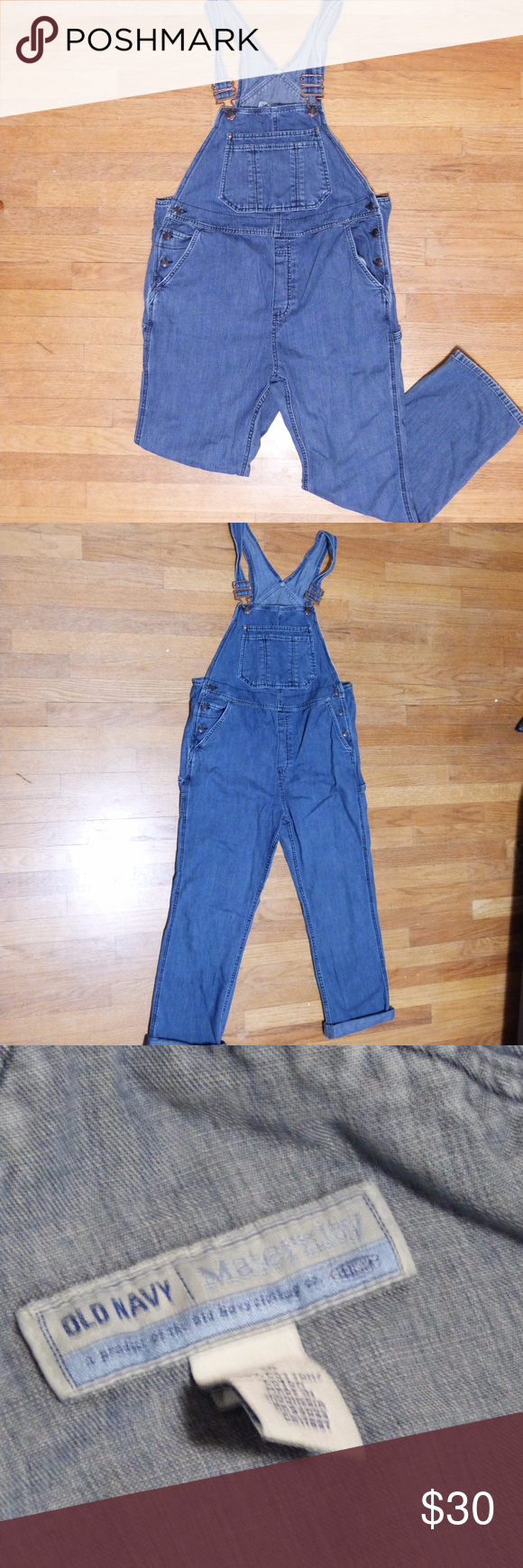 11b1c9cff3030 Old Navy Maternity Overalls Maternity carpenter overalls by Old Navy. Size  Medium, 100% Cotton Inseam - 28