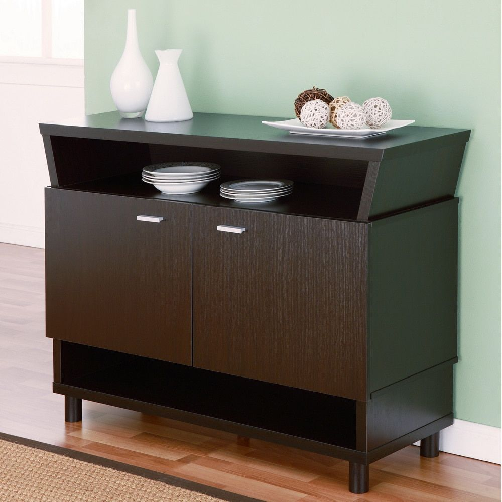 Furniture Of America Modern Avant Garde 2 Cabinet Dining Buffet  # Muebles Sorento