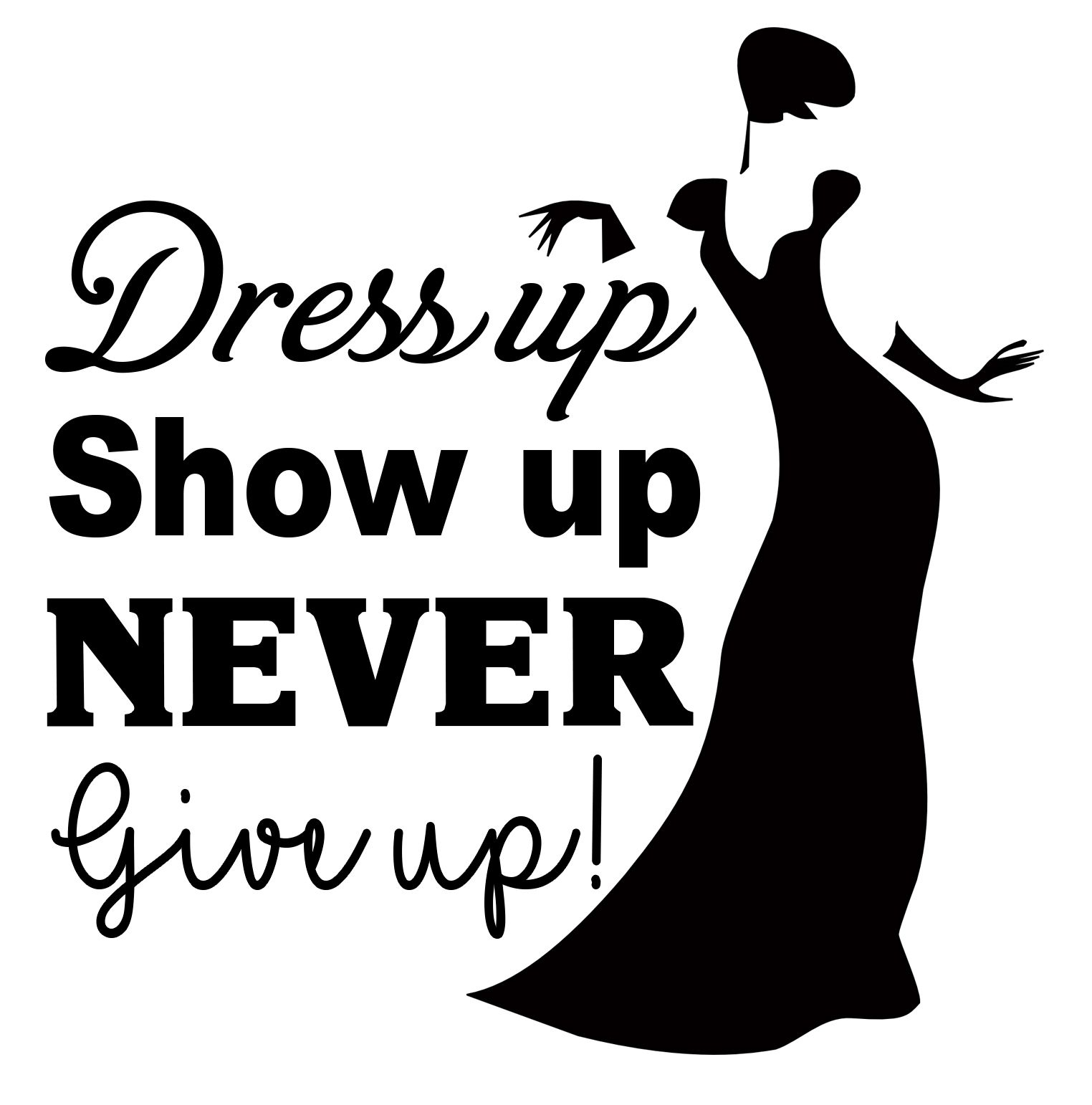 Free Dress up SVG Silhouette drawing, Silhouette cameo