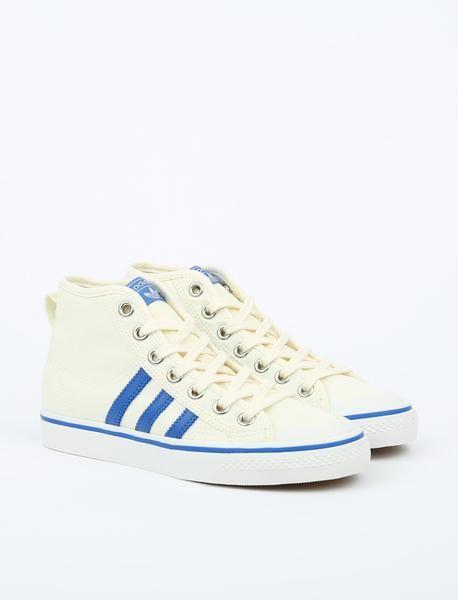 ae810e21530e Adidas Originals Nizza Hi - Off White Blue Vintage White