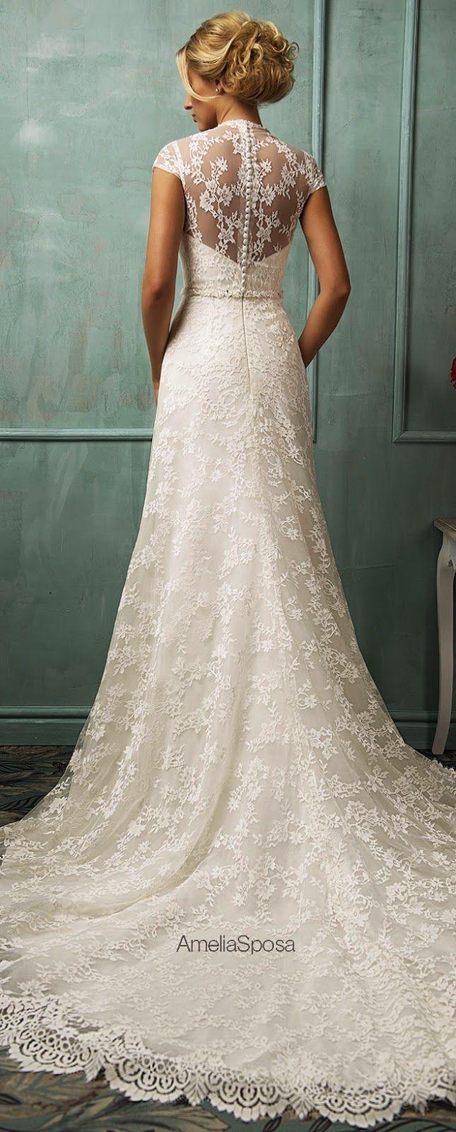Lace wedding dress cheap december 2018 Amelia Sposa  Wedding Dresses  Secret  Pinterest  Amelia