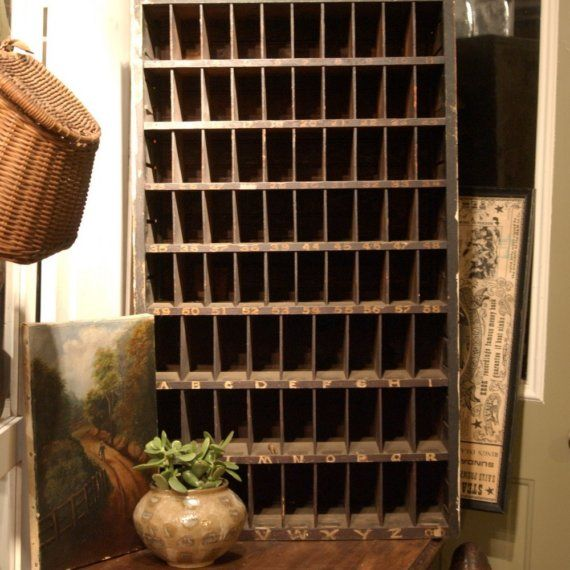Antique Post Office Mail Cubby