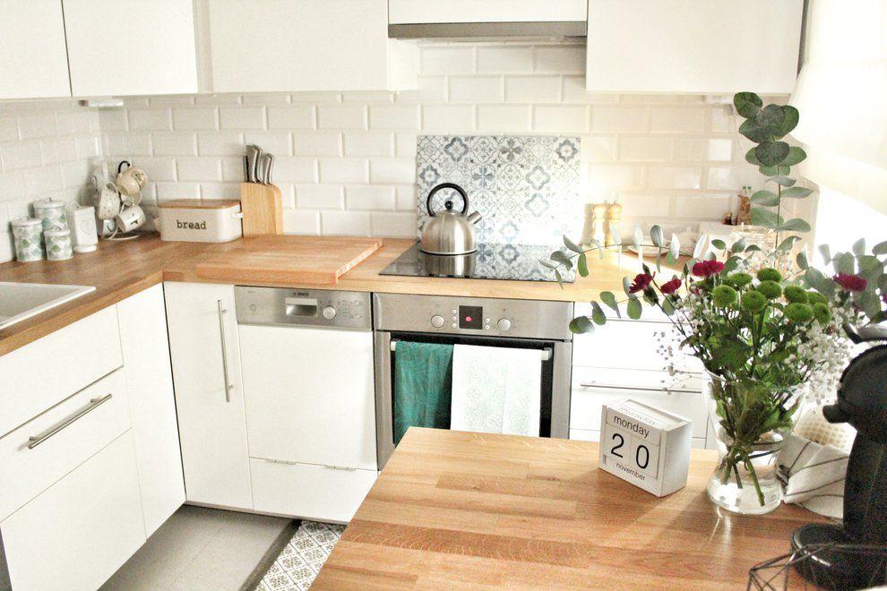 Wnetrza Moja Skandynawska Kuchnia Widok Ogolny White Kitchen Tiles Kitchen Kitchen Tiles
