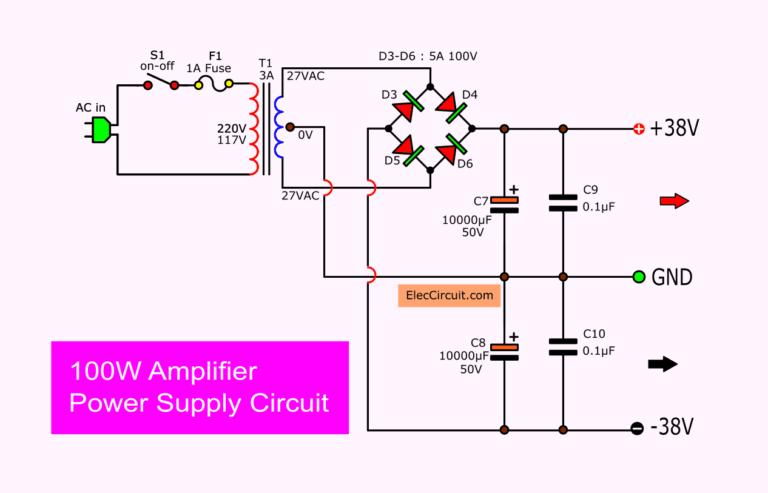 100w Amplifier Circuit With Pcb Audio Amplifier Amplifier Circuit