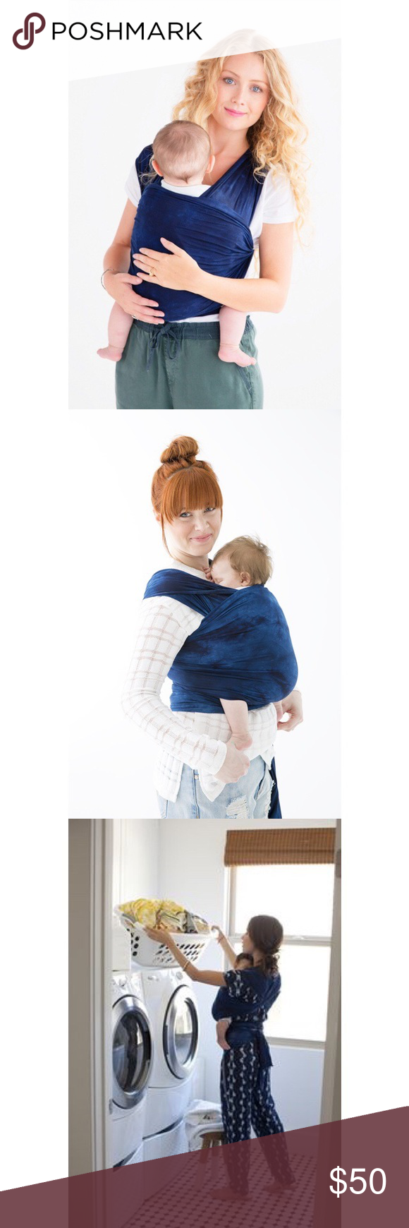 Solly Baby Wrap Navy Shibori Baby Carrier Excellent Condition