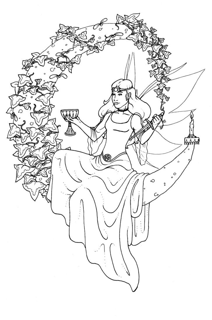 wiccan coloring pages | Viewing Gallery For - Pagan Yule Coloring ...