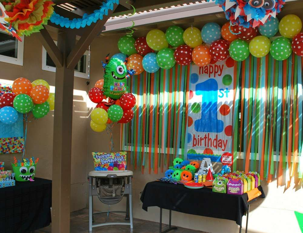 Monsters birthday party ideas birthday party ideas for 1st birthday hall decoration ideas
