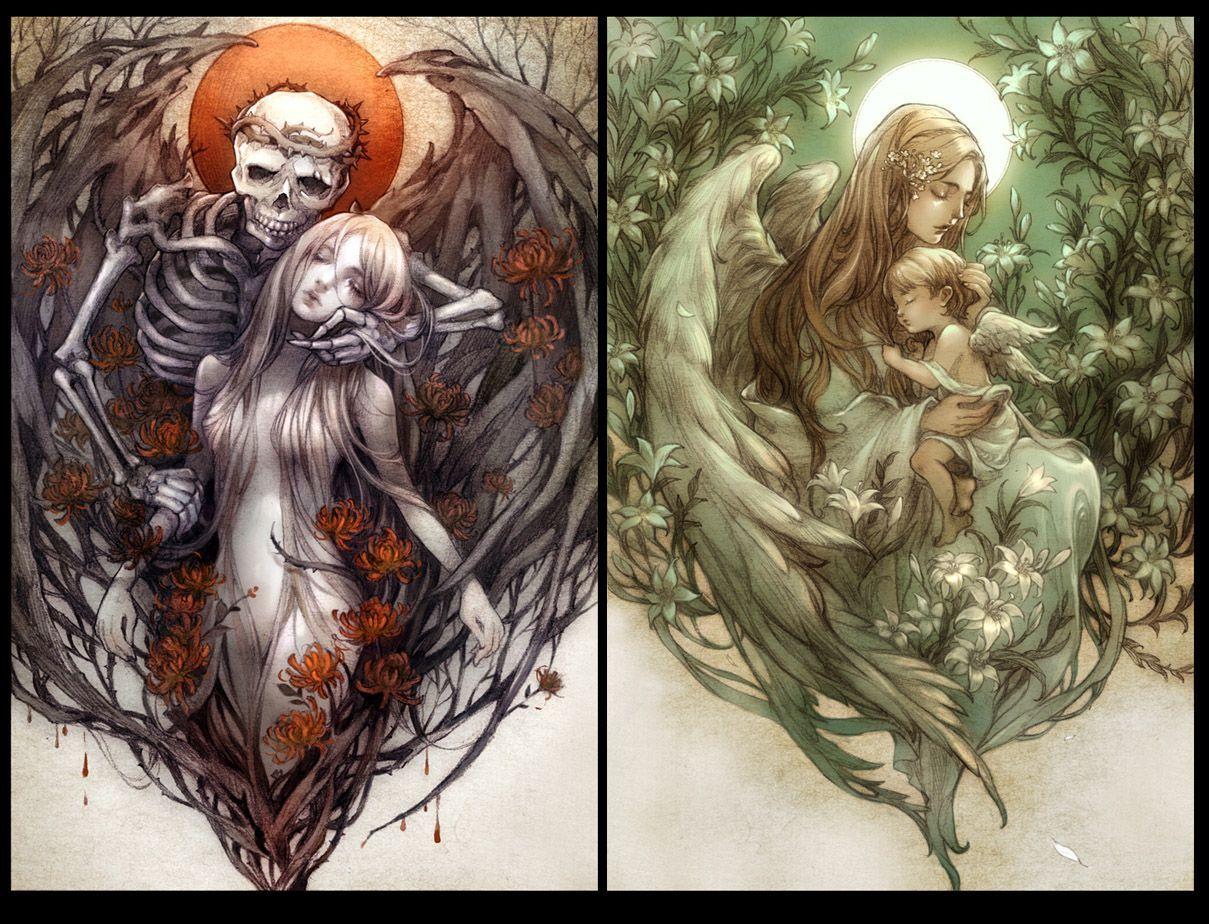 1c28660a842d.jpg (1209×924) | Рисунки, Иллюстрации, Ангелы ...