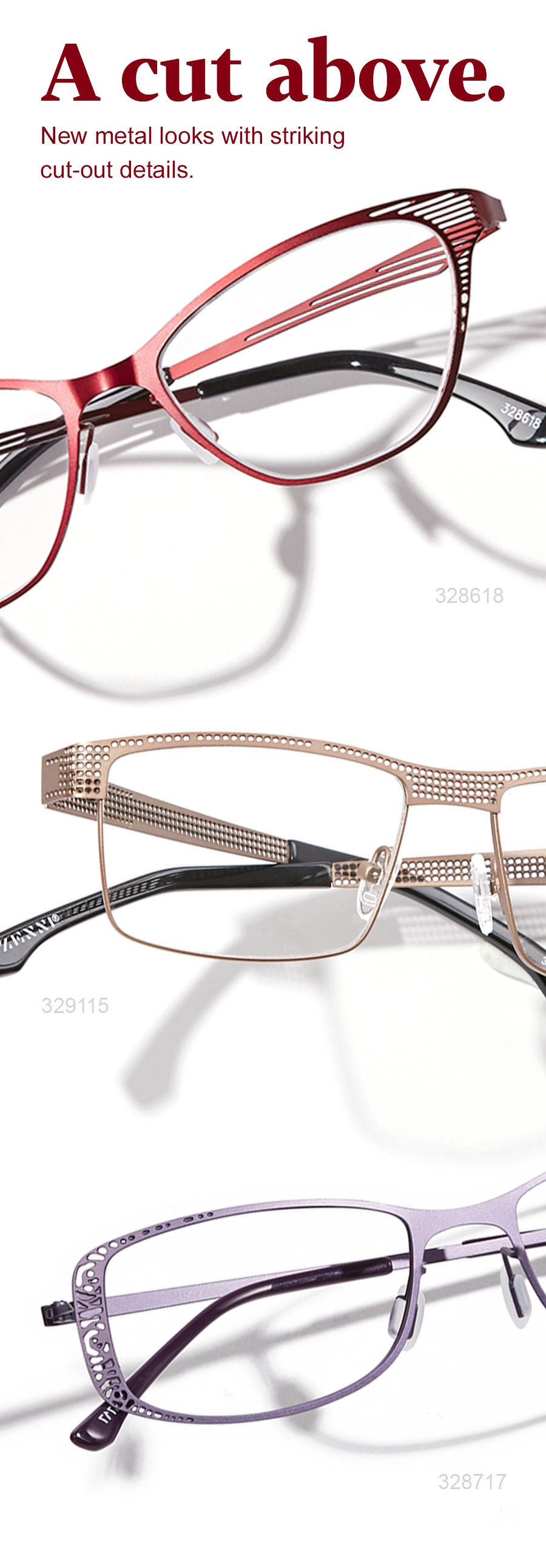 Add subtle flair to your Zenni collection with metal cut-out frames ...