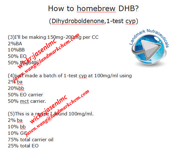 How to homebrew DHB? (Dihydroboldenone,1-test cyp