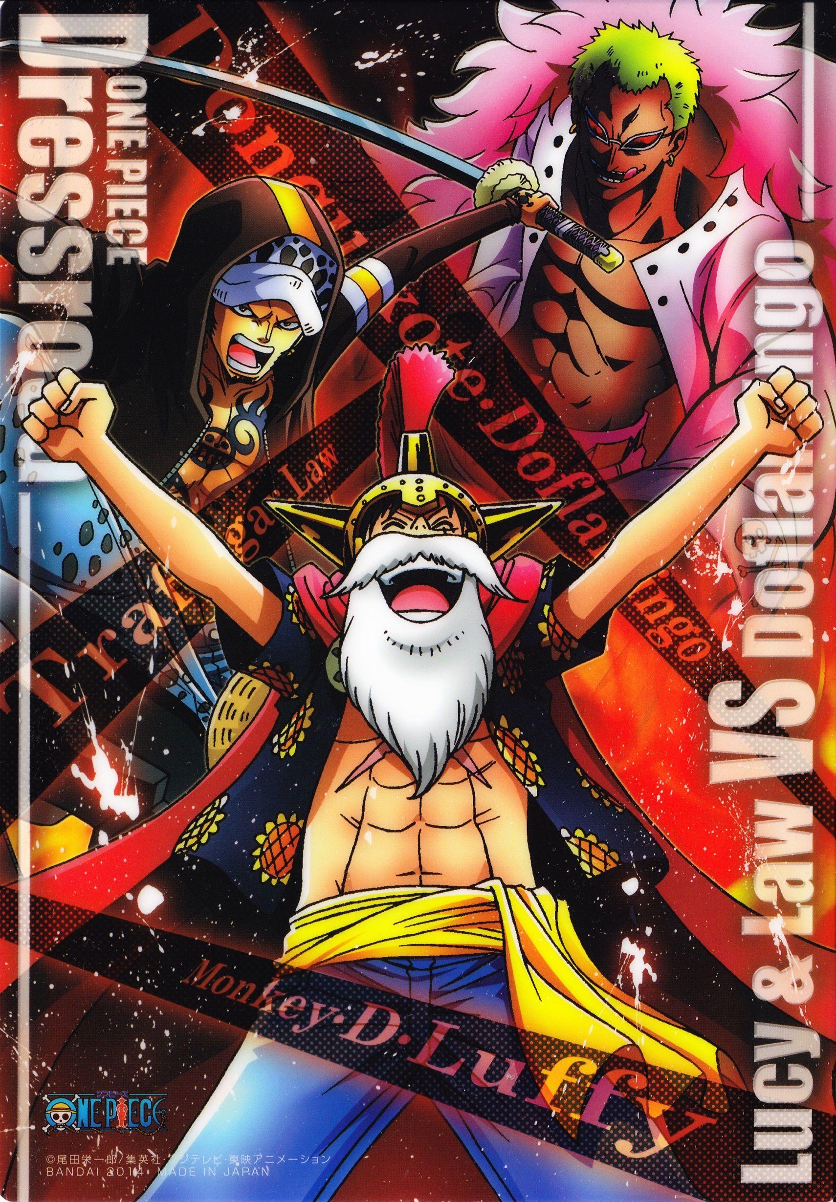 Luffy, Law e Doflamingo