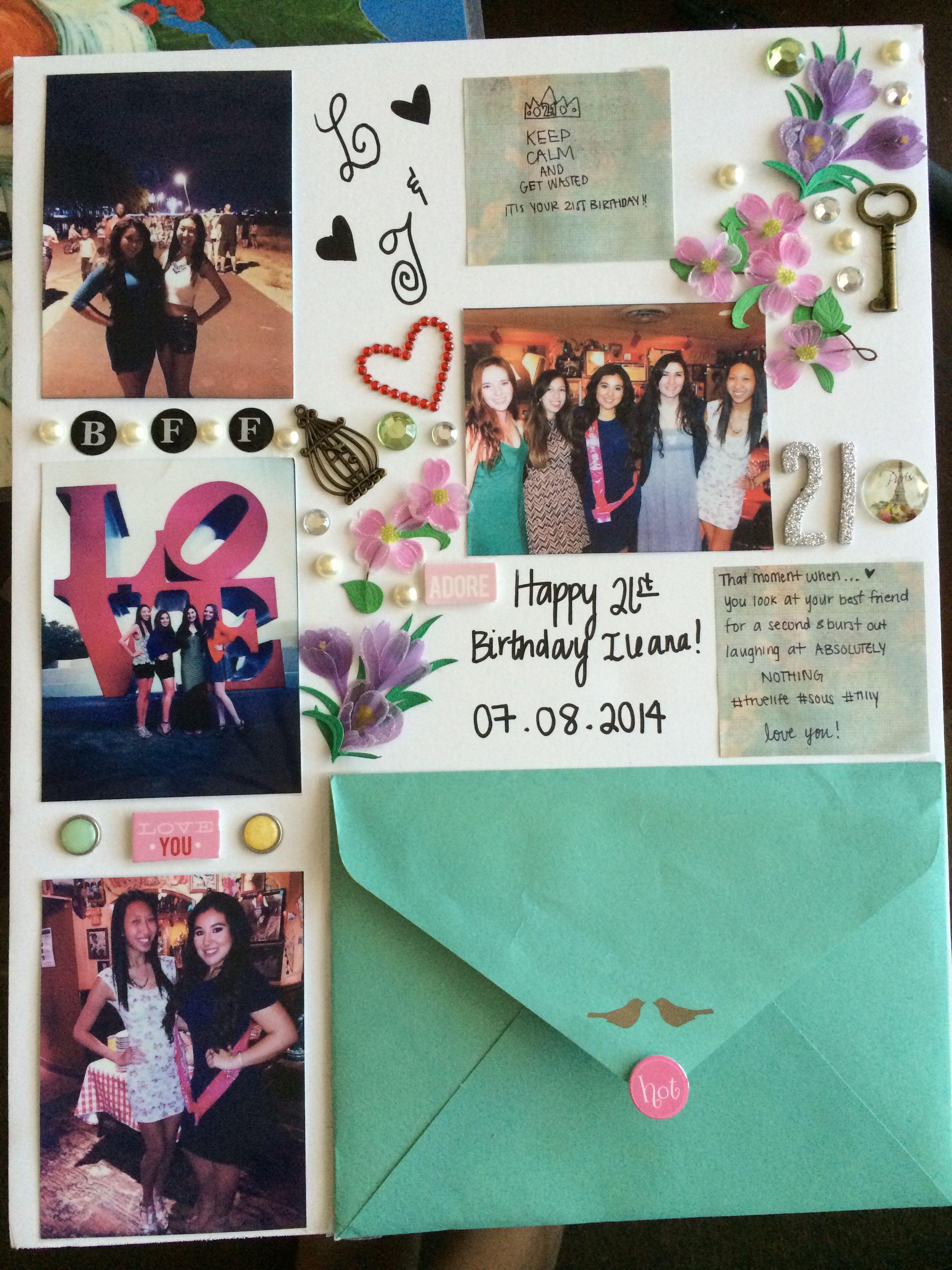 Best friend scrapbook ideas - Best Friends Birthday Poster 21birthday