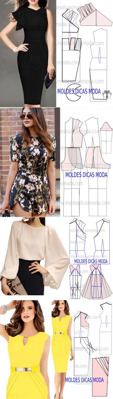 Sewing Projects   Patrones y costuras   Pinterest   Molde, Costura y ...