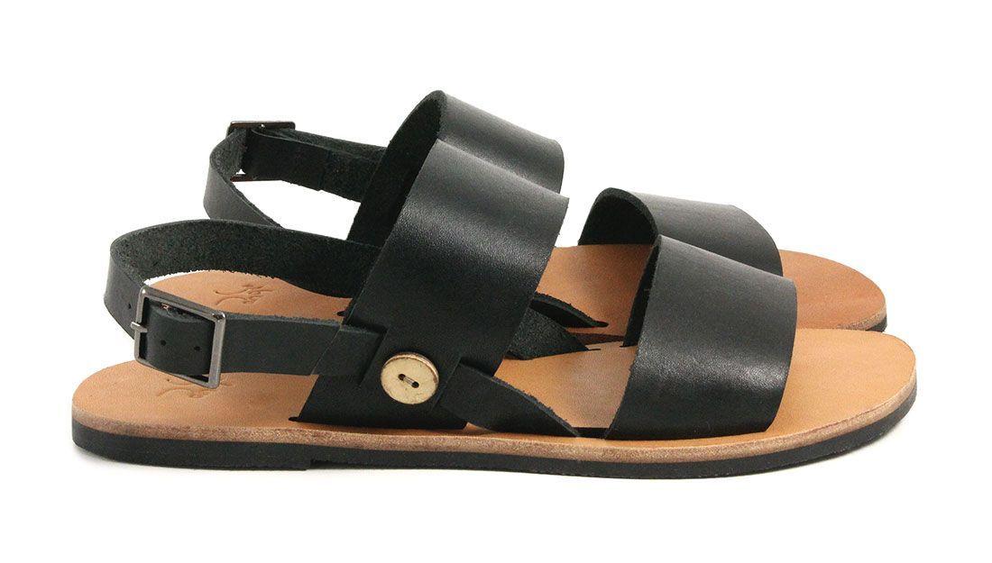 4dc3758d3540c Sandales en cuir véritable - CEDAR  noir  sandales  sandals   Spring ...