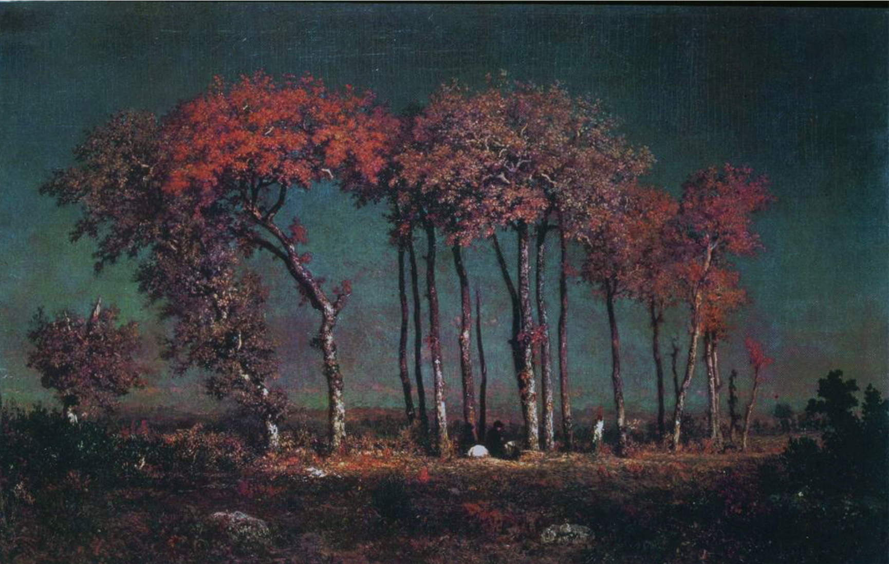 Theodore Rousseau 1812 1867 Under The Birches Evening 1837 42 Theodore Rousseau Toledo Museum Of Art Landscape Paintings