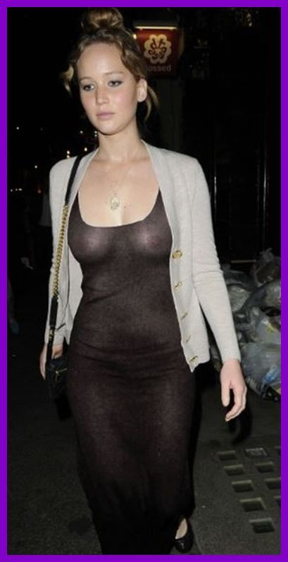 Hunger Queen Jennifer Lawrence In A See Through Dress With No Bra What Do You Think