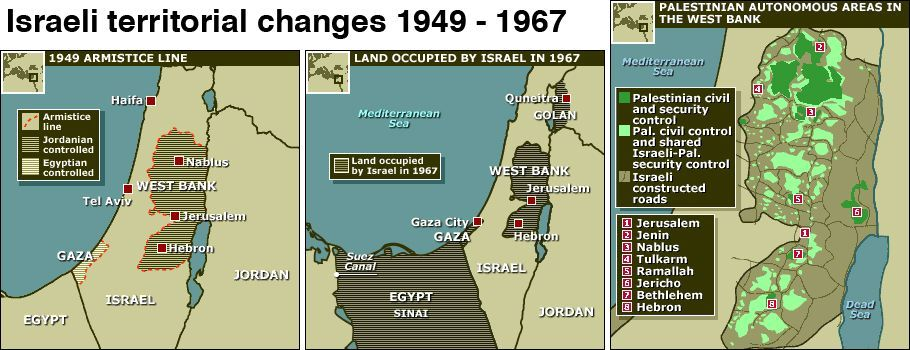 40 maps that explain the Middle East  The 1967 IsraeliArab War that set todays borders