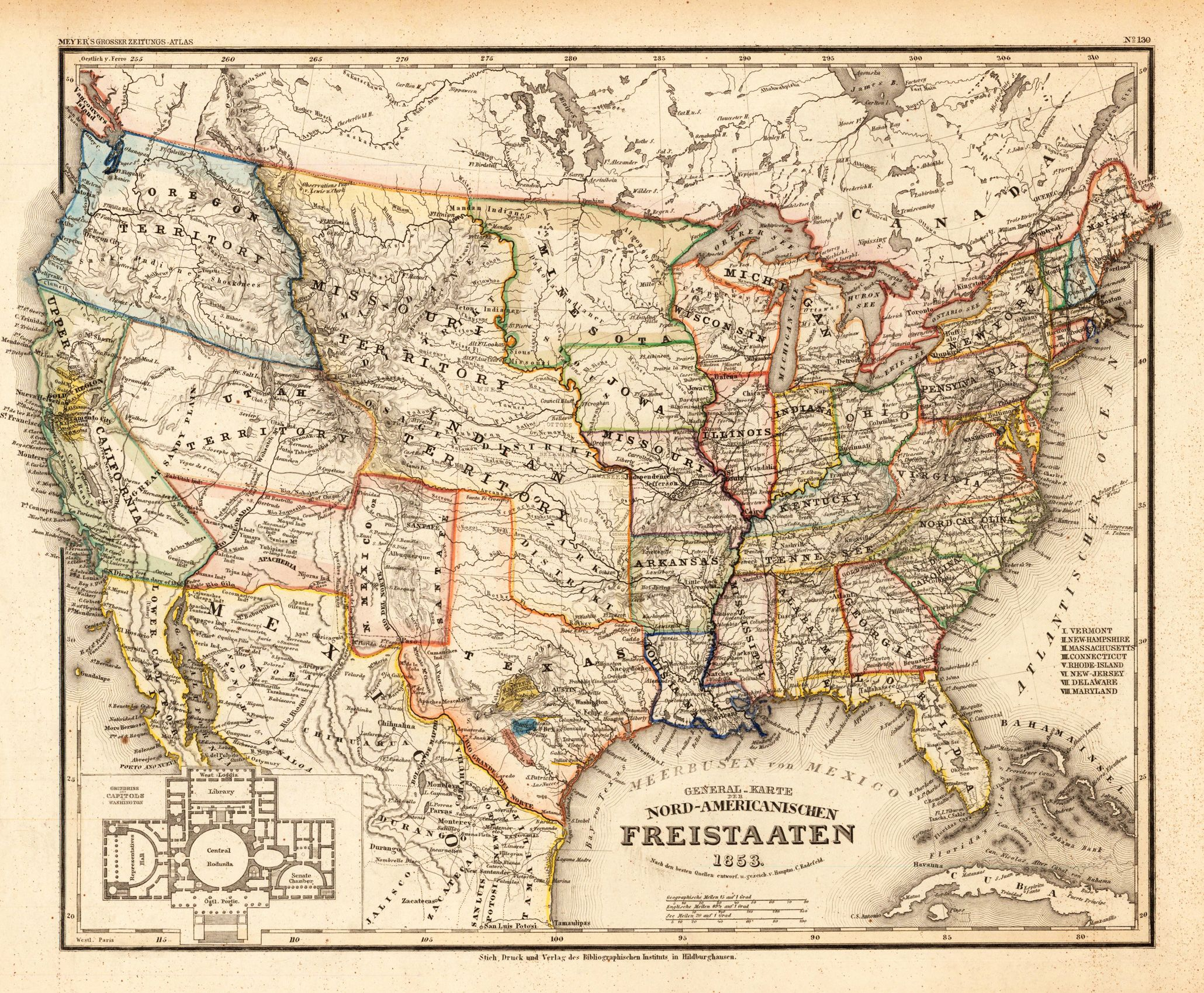 Toured america pablo de sarasate pinterest antique map 1853 united states of america by dan sproul sciox Gallery
