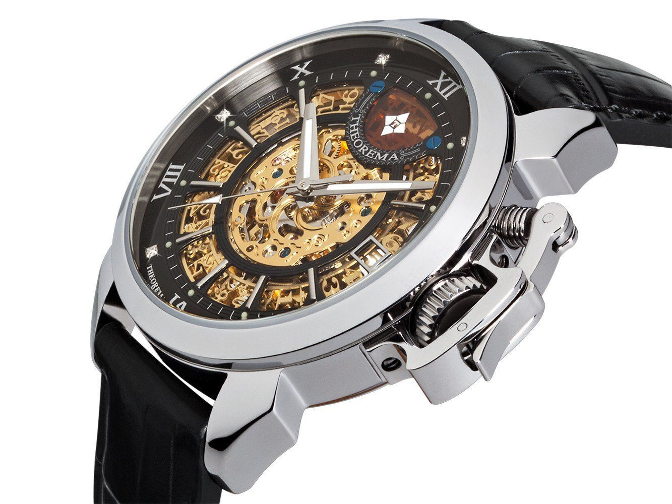 Exquisite diamond placement and precise automatic movement