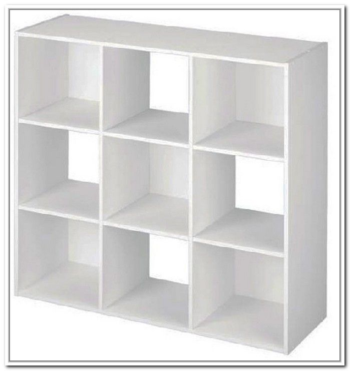 Delightful 9 Cube Storage Unit White