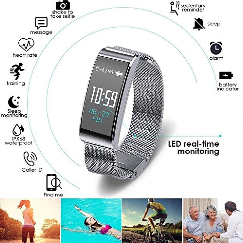 Waterproof Fitness Tracker Watch IP68 Activity Fitness