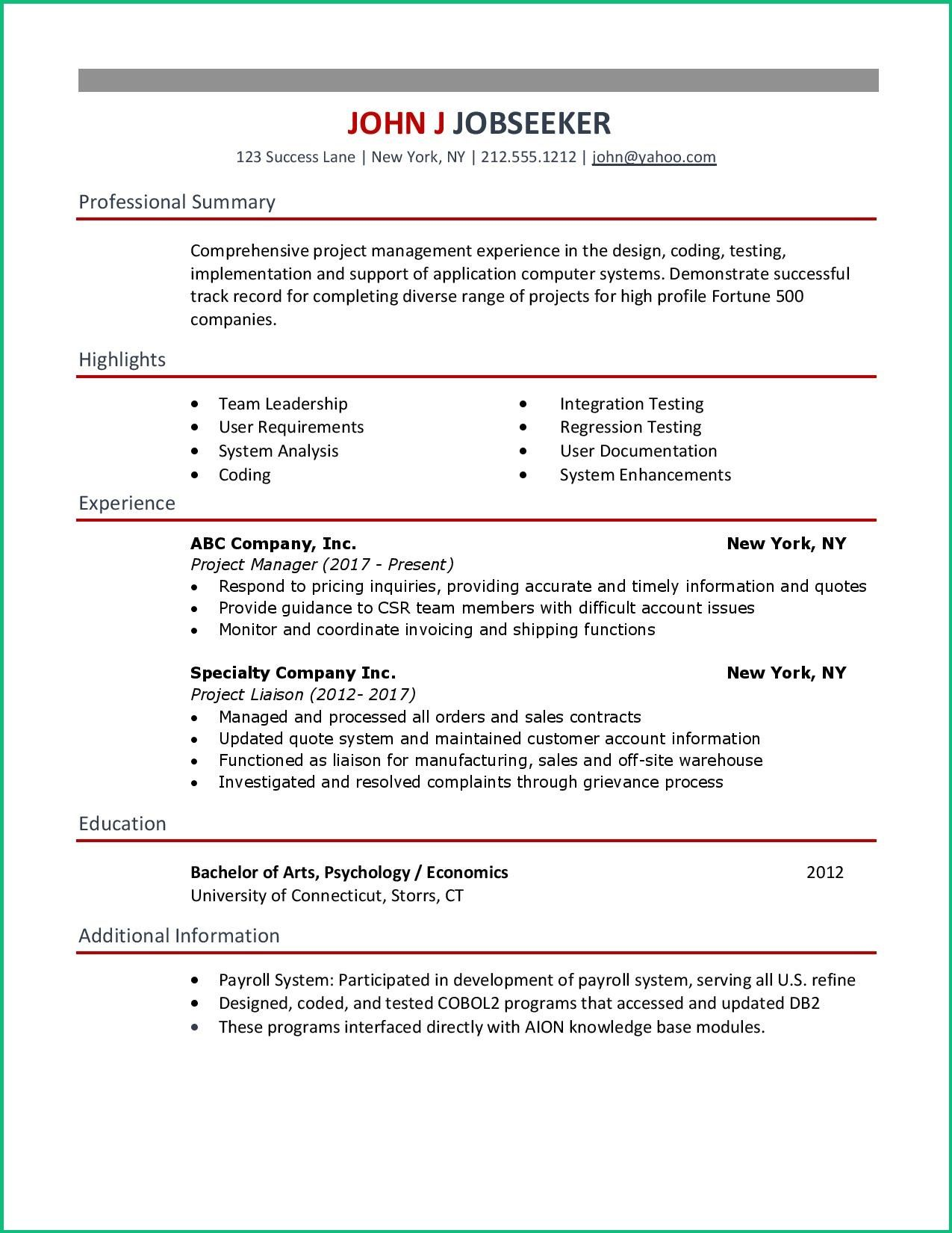 Clean And Simple Resume Examples For Your Job Search Copy Or