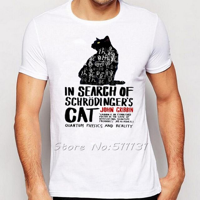 Drole De Schrodinger Chat T Shirt Science Geek T Chemises Hommes