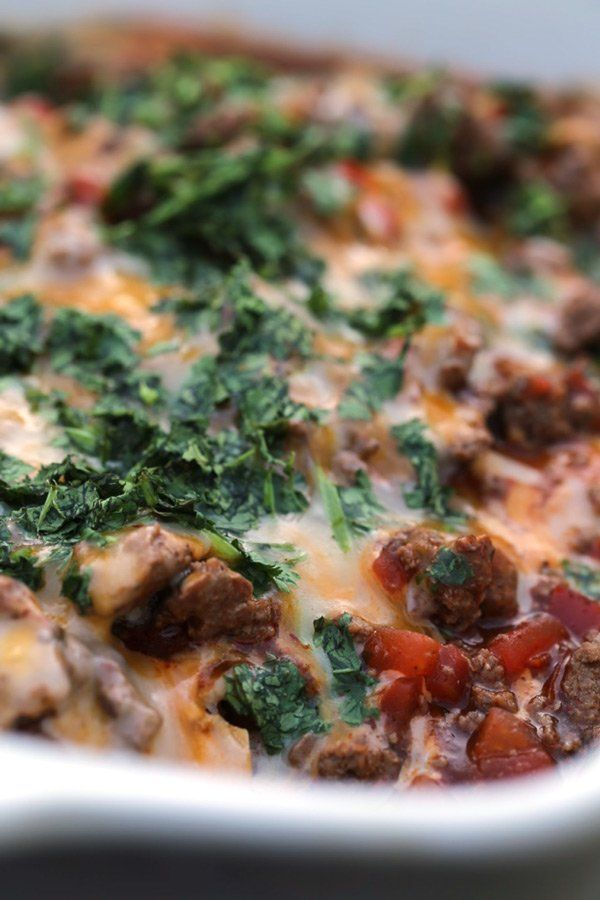 Easy Beef Enchilada Casserole This ground beef enchilada layered casserole is an easy dinner recipe that is perfect for busy families during the school week