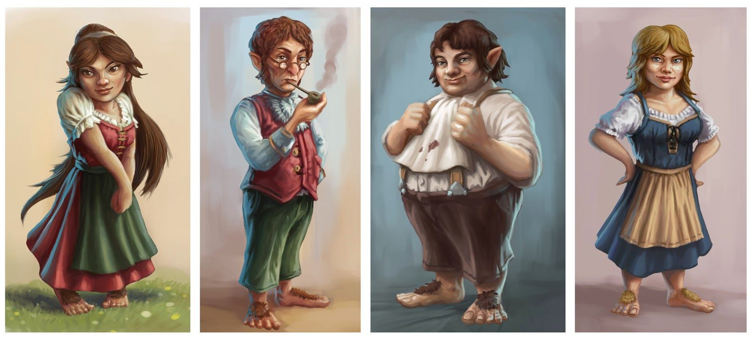 halfling  concept art  | Halfling Feast' Character Illustrations - Triple Ace Games 2015