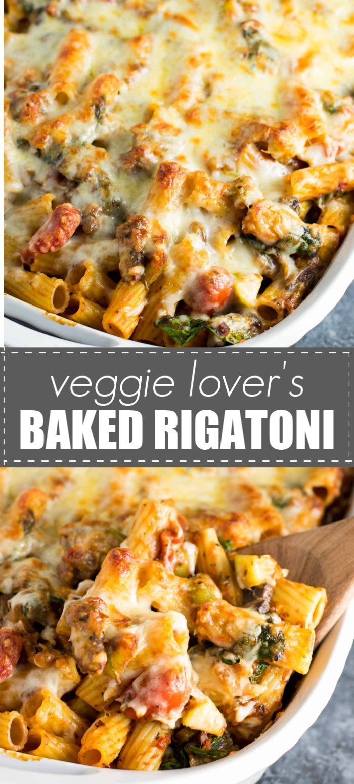 Veggie Lover's Baked Rigatoni - Build Your Bite