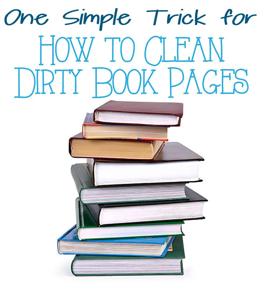 How Do You Clean Book Pages?