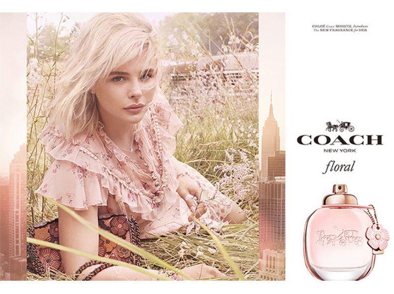 Coach Floral Perfume Women Eau De Parfum Spray 3 Oz Fragrance New Original Coach Floral Chloe Grace Moretz Fragrance Campaign