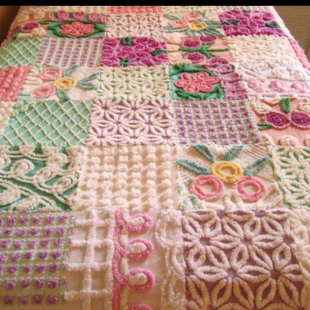 Gorgeous hand-made shabby chic quilt.   crochet   Pinterest ... : chenille quilts - Adamdwight.com