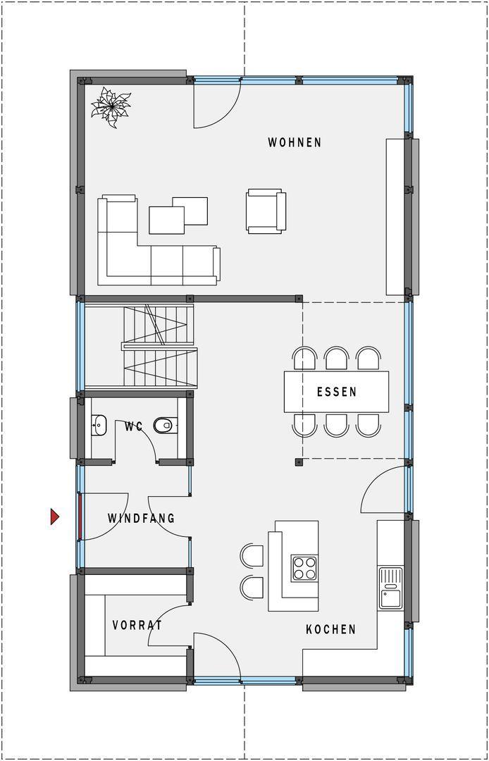 Erdgeschoss hausplanung pinterest moderne for Hausplanung grundriss