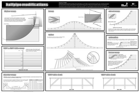 Carpentry skate ramp google search skate pinterest build your own mini halfpipe ramp plan blueprints step by step manual how to dvd video malvernweather Images