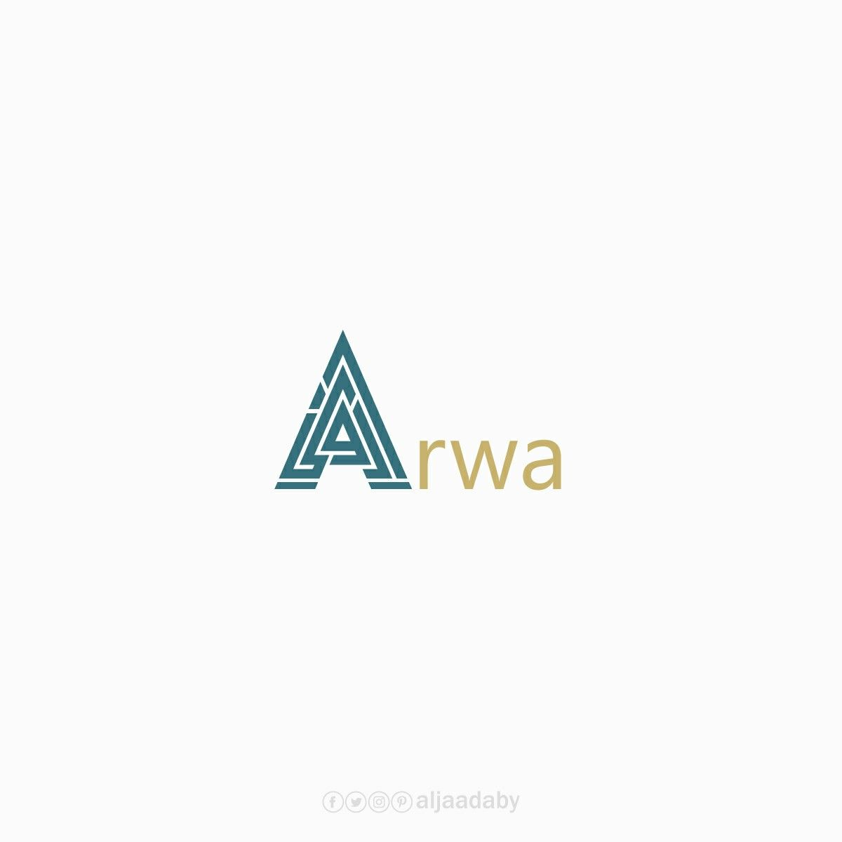 شعار أروى Logo Design Camera Art Design