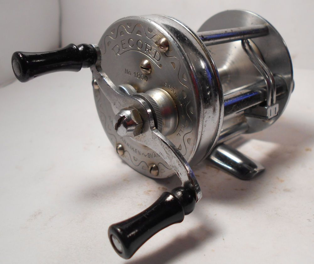 Vintage abu garcia svangsta record 1800 baitcasting for Baitcasting fishing reel