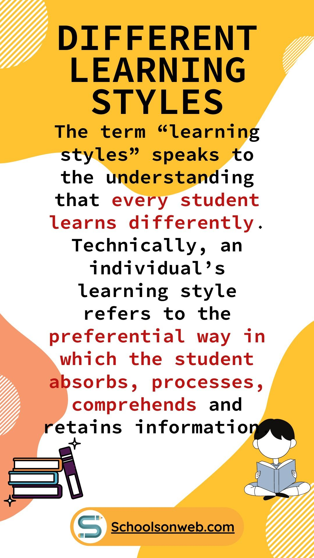 Different Learning Styles Learning Styles How To Retain Information School Study Tips