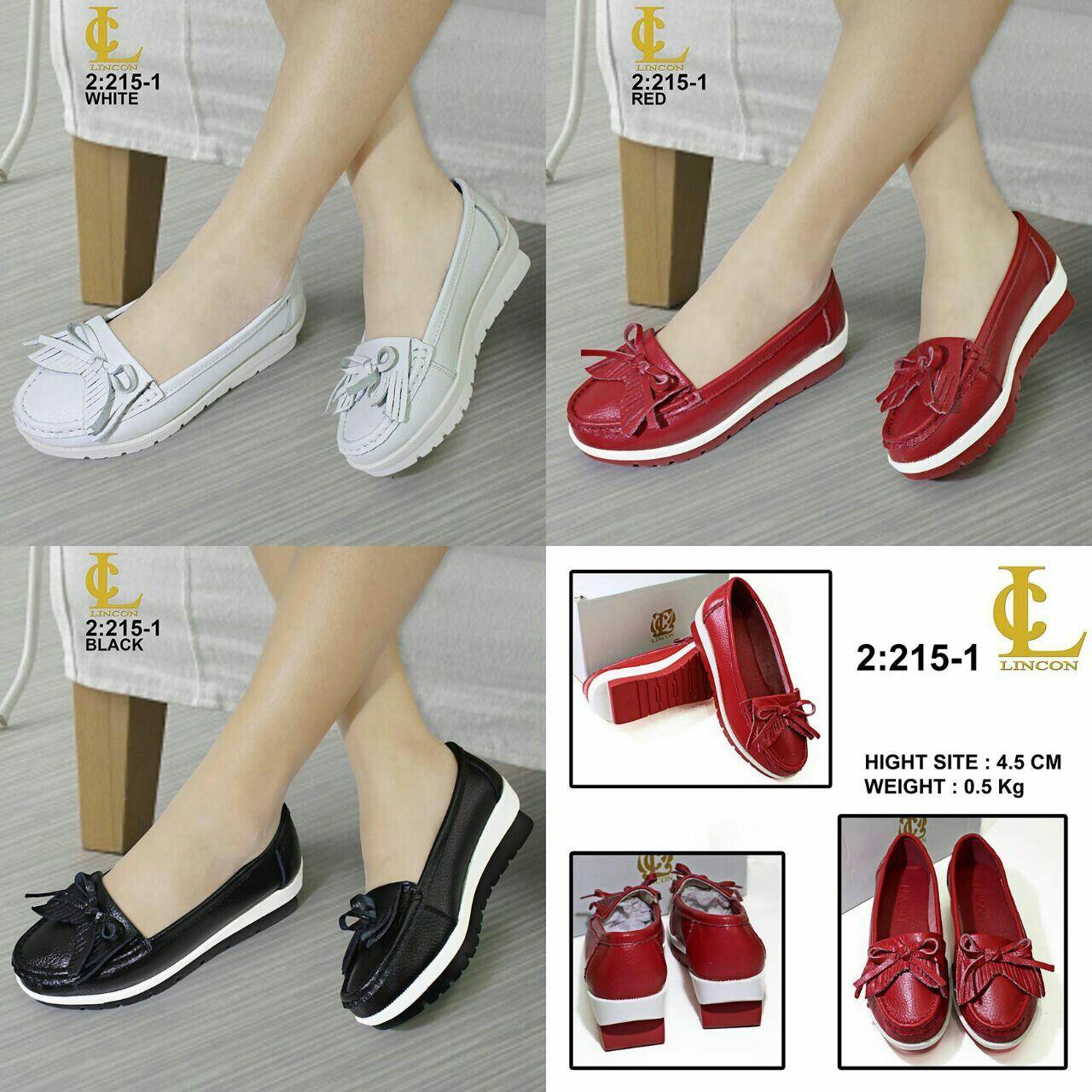 Sepatu Lincon 215 1 Original Brand Bahan Kulit Asli Hight Site 4